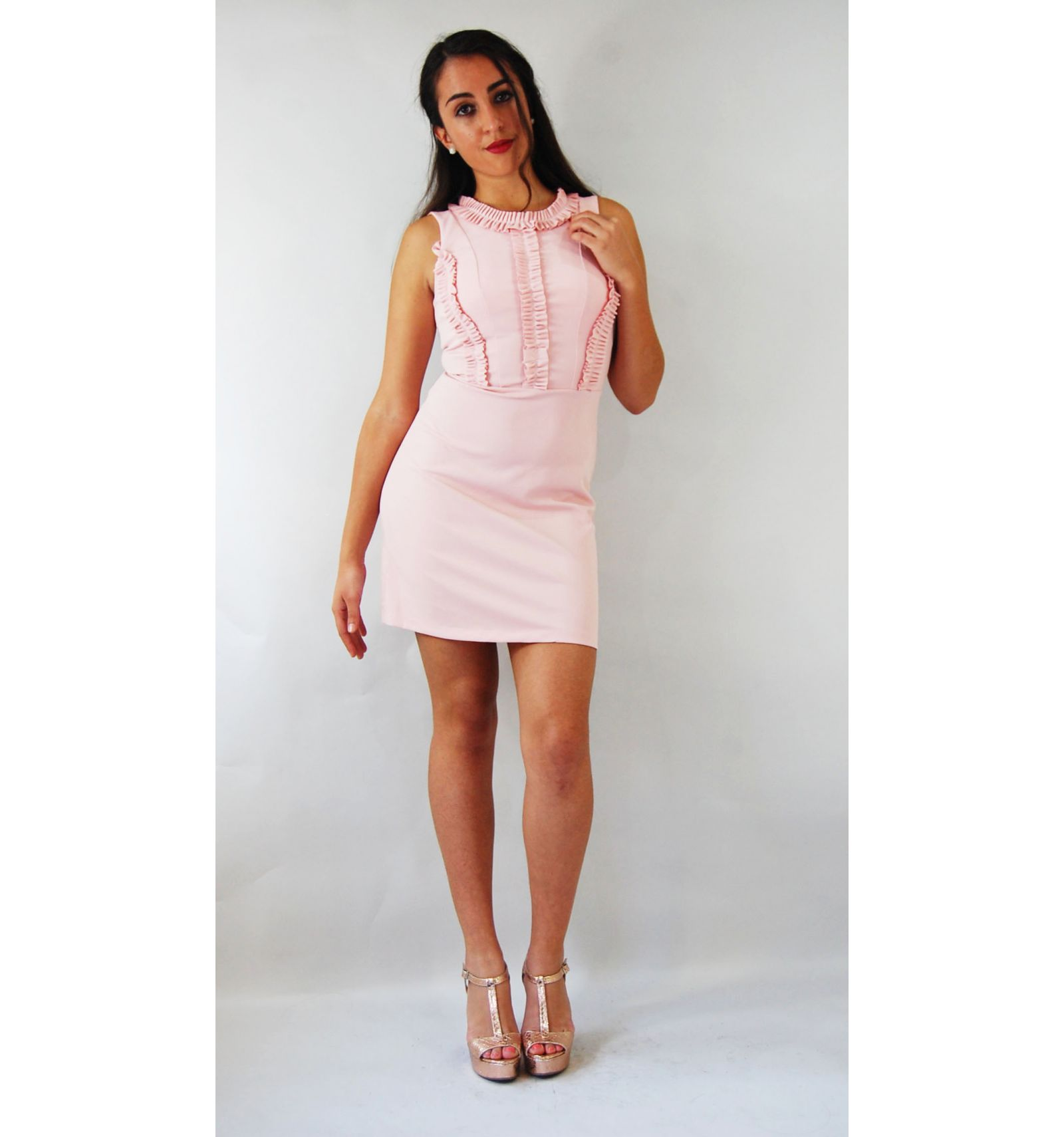 Kurzes rosa Kleid