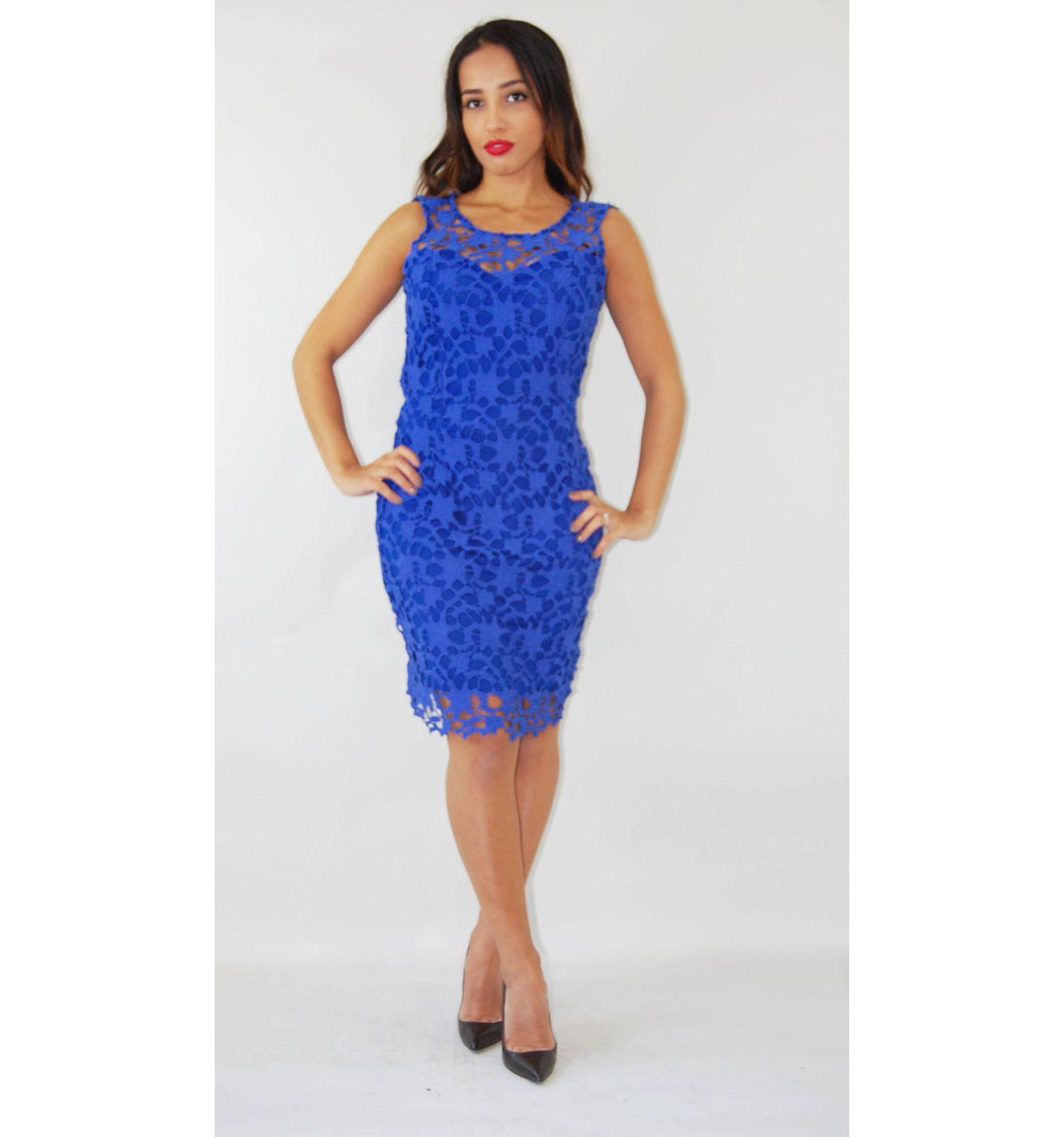 kaufen sie ein billiges blue lace kleid mit spitze. Black Bedroom Furniture Sets. Home Design Ideas