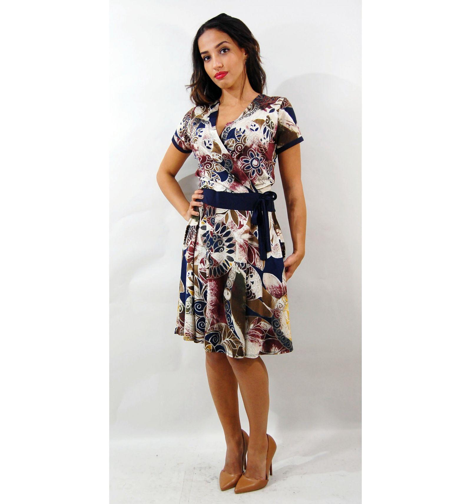Kaufen Sie ein Blue Short Kleid mit Blumen