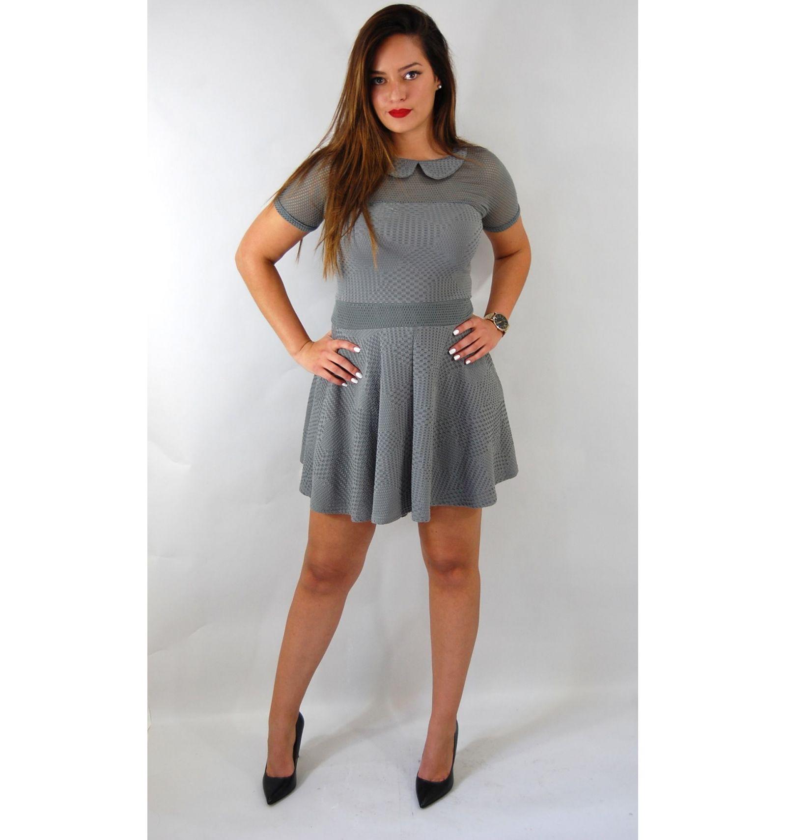 acheter une robe patineuse grise pas ch re. Black Bedroom Furniture Sets. Home Design Ideas
