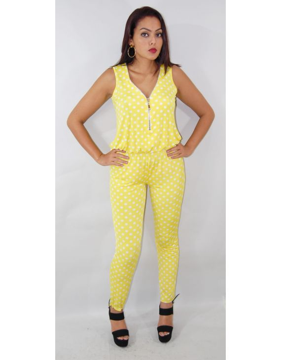 yellow trouser suit